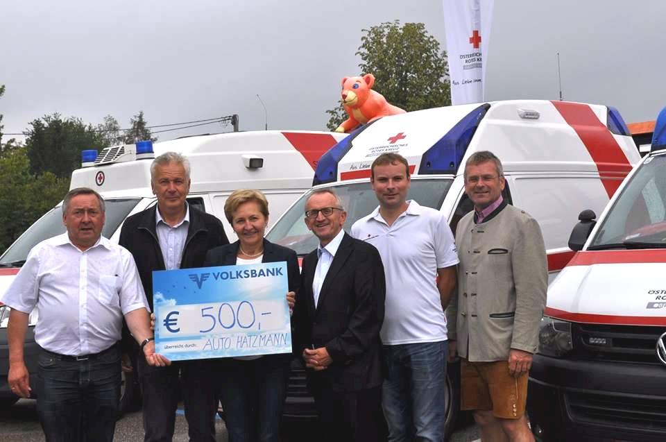 Auto Hatzmann spendet 500 Euro an die Rotes Kreuz Ortstelle Altheim 1