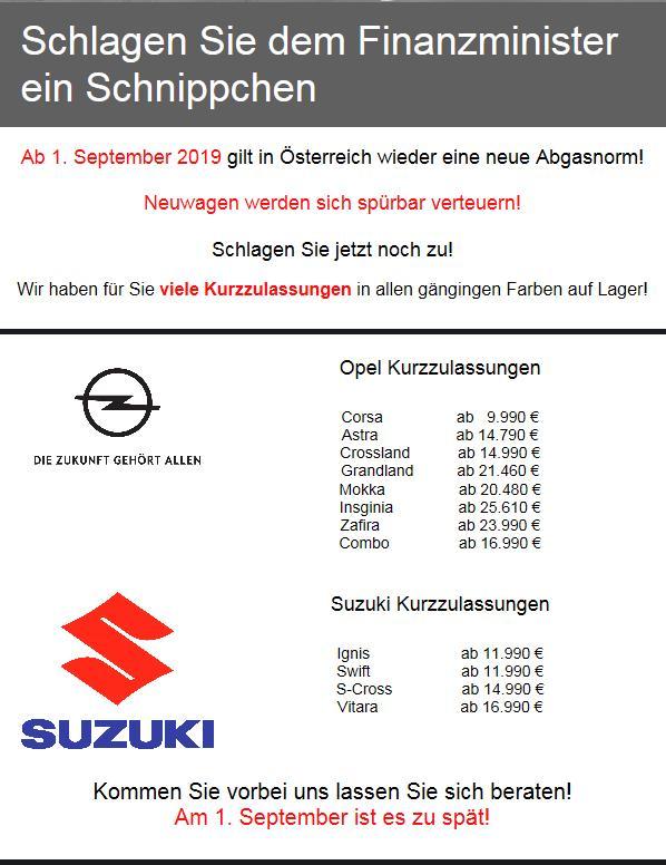neue Abgasnorm  ab dem 1. September 1